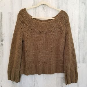 FREE people Cropped Chunky Oversized Sweater